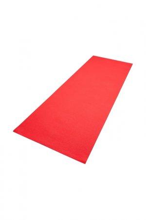 Коврик для фитнеса тонкий REEBOK. Цвет: красный