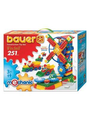 Конструктор Bauer серии  Mechanic 251parts Windmill (Мельница) 8/8. Цвет: голубой