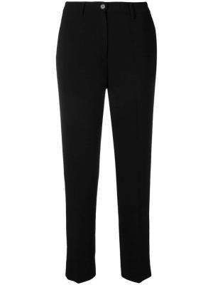 Классические строгие брюки Aspesi. Цвет: черный