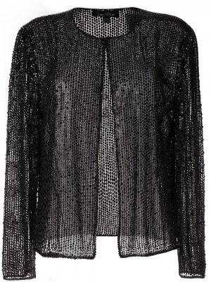 Трикотажный кардиган Jenny Packham. Цвет: черный