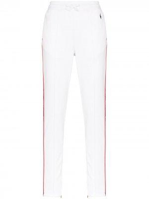 Спортивные брюки с логотипом на лампасах Polo Ralph Lauren. Цвет: белый