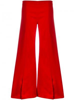 Расклешенные брюки Mugler. Цвет: красный