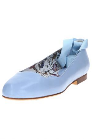 Балетки DINO RICCI. Цвет: голубой
