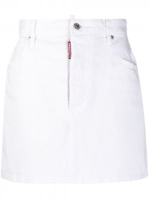 Джинсовая юбка Icon Dsquared2. Цвет: белый