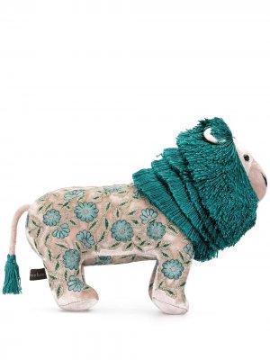Мягкая игрушка в виде льва с вышивкой Anke Drechsel. Цвет: зеленый