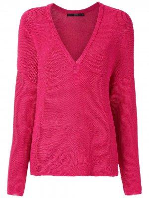 Трикотажный пуловер Eva. Цвет: розовый