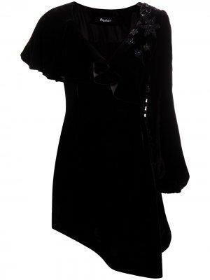 Коктейльное платье асимметричного кроя Parlor. Цвет: черный