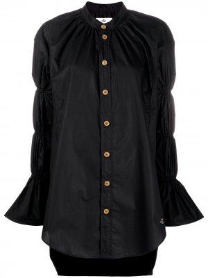 Рубашка из органического хлопка с ярусными рукавами Vivienne Westwood Anglomania. Цвет: черный