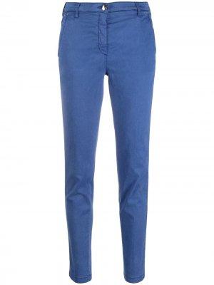 Узкие брюки чинос Marina Jacob Cohen. Цвет: синий