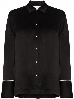 Пижамная рубашка  London Asceno. Цвет: черный