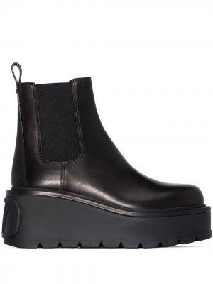Ботинки челси на платформе Valentino Garavani. Цвет: черный