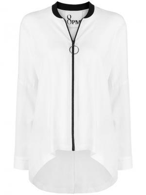 Soft zipped jacket 8pm. Цвет: белый