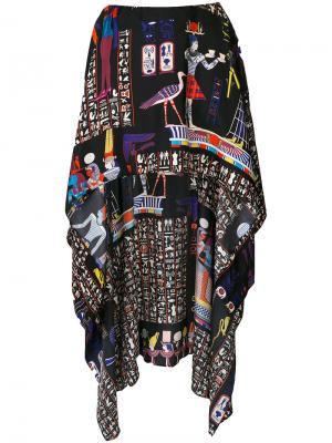 Юбка с принтом Jean Paul Gaultier Vintage. Цвет: черный