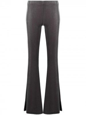 Расклешенные бархатные брюки Antonella Rizza. Цвет: серый