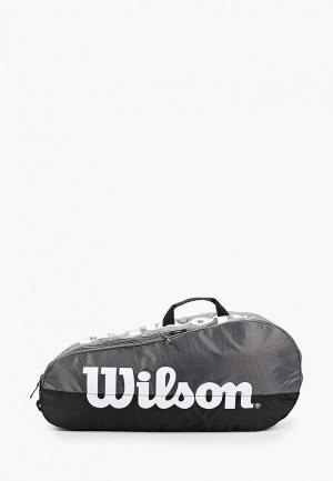 Сумка для теннисных ракеток Wilson. Цвет: серый