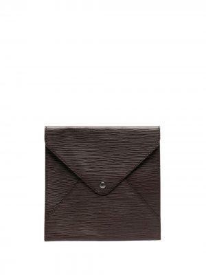 Папка для документов Épi pre-owned Louis Vuitton. Цвет: коричневый