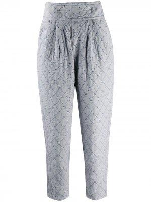 Дутые зауженные брюки 1970-х годов Issey Miyake Pre-Owned. Цвет: серый