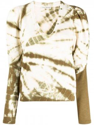 Пуловер Jude с принтом тай-дай Ulla Johnson. Цвет: зеленый