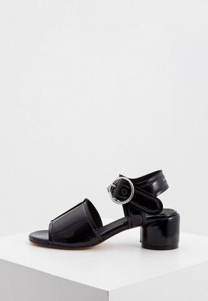 Босоножки MM6 Maison Margiela. Цвет: черный