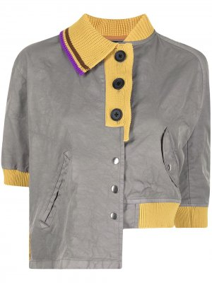 Рубашка поло асимметричного кроя Kolor. Цвет: серый