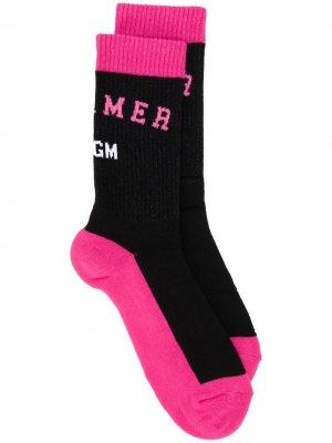 Трикотажные носки вязки интарсия MSGM. Цвет: черный