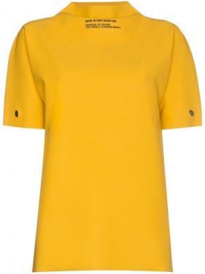 8dea3d8e Топ с резиновой фактурой логотипом Calvin Klein 205W39nyc. Цвет: желтый