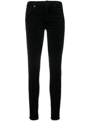 Mid-rise skinny jeans 7 For All Mankind. Цвет: черный