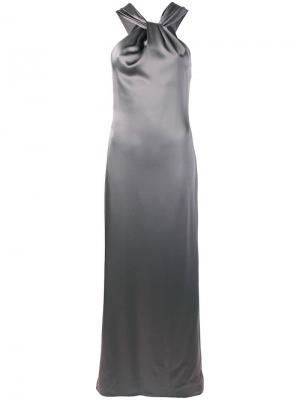 Вечернее платье с вырезом-халтер Blanca. Цвет: серый