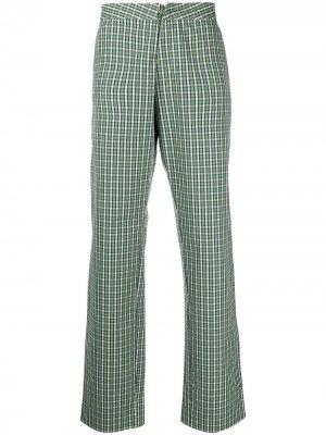 Прямые брюки Royal в клетку гингем Walter Van Beirendonck Pre-Owned. Цвет: зеленый