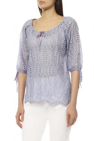Блуза EXETERA. Цвет: голубой