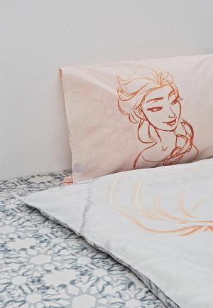 Постельное белье 1,5-спальное Disney. Цвет: серый