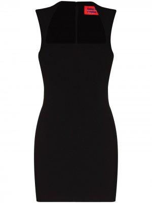 Приталенное платье мини Cora Solace London. Цвет: черный
