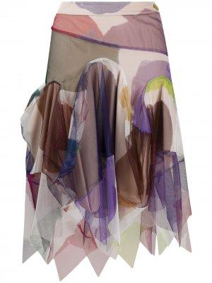 Юбка асимметричного кроя со вставками Vivienne Westwood. Цвет: фиолетовый