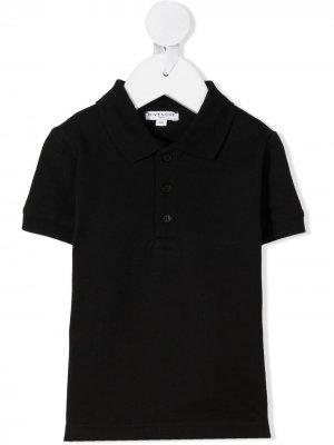Рубашка поло с короткими рукавами Givenchy Kids. Цвет: черный