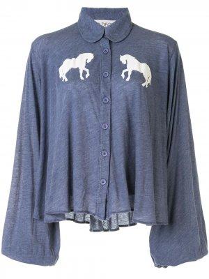 Блузка с принтом Wildfox. Цвет: синий