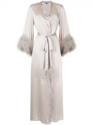Длинный халат Kitty Gilda & Pearl. Цвет: серый