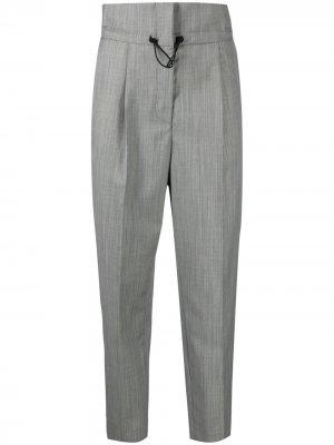 Зауженные брюки с завышенной талией Tela. Цвет: серый