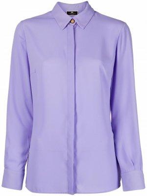 Рубашка с длинными рукавами Elisabetta Franchi. Цвет: фиолетовый