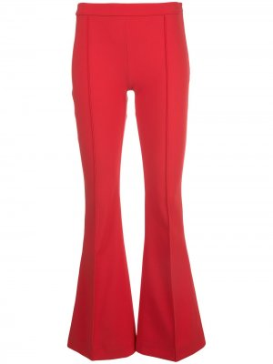 Расклешенные брюки Adam Lippes. Цвет: красный