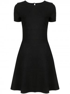 Расклешенное платье из джерси TWINSET. Цвет: черный