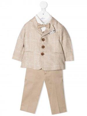 Костюм-тройка с пиджаком Colorichiari. Цвет: нейтральные цвета