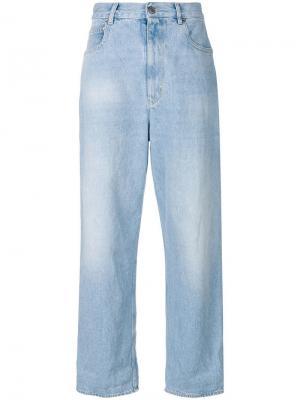 Широкие джинсы Golden Goose Deluxe Brand. Цвет: синий