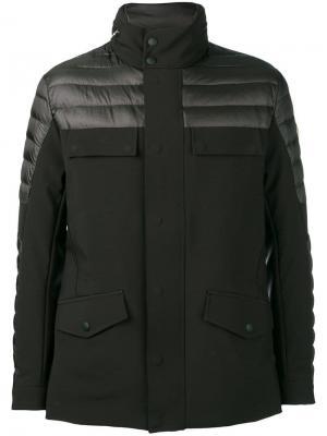 Байкерская куртка-пуховик Colmar. Цвет: черный