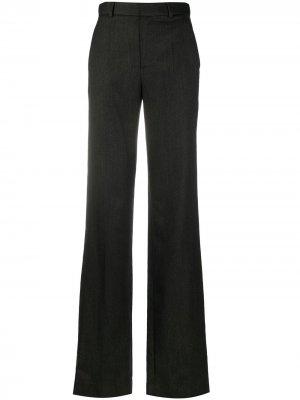 Расклешенные брюки с завышенной талией The Attico. Цвет: серый