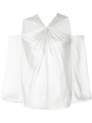 Блузка с открытыми плечами Elizabeth And James. Цвет: белый