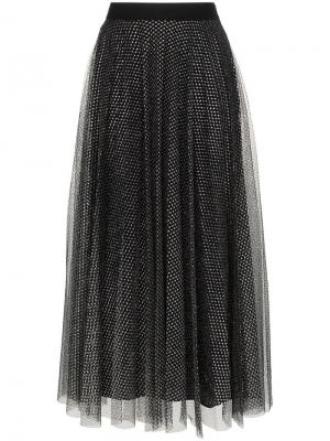 Metallic tulle pleated skirt Christopher Kane. Цвет: черный
