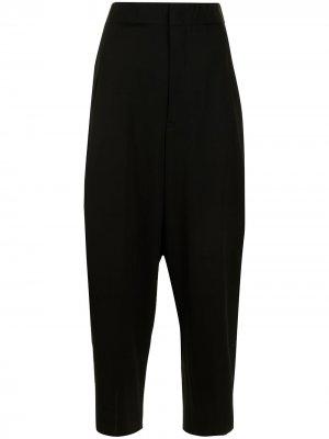 Ys зауженные брюки с завышенной талией Y's. Цвет: черный