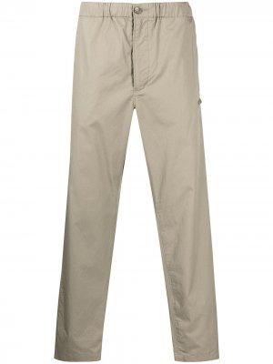 Прямые брюки с кулиской Engineered Garments. Цвет: коричневый