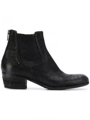 Ботинки-челси на низком каблуке Pantanetti. Цвет: черный
