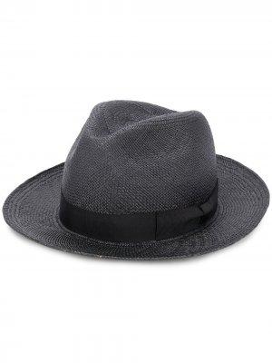 Плетеная шляпа с бантом Yohji Yamamoto. Цвет: черный